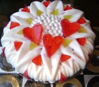 Торт-чизкейк Цветные льдинки